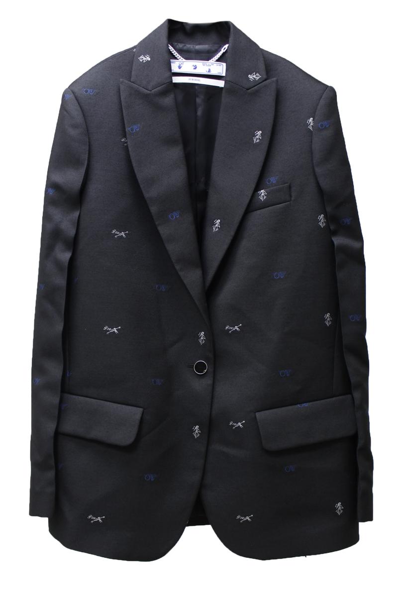 OFF-WHITE ロゴジャガードジャケット【20AW】