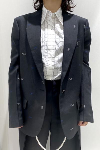 OFF-WHITE 【30%OFF】ロゴジャガードジャケット【20AW】