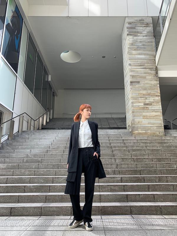 OFF-WHITE ロゴカーテンジャケット【20AW】