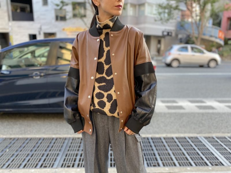 PLAN C 切替レザーボンバージャケット【20AW】