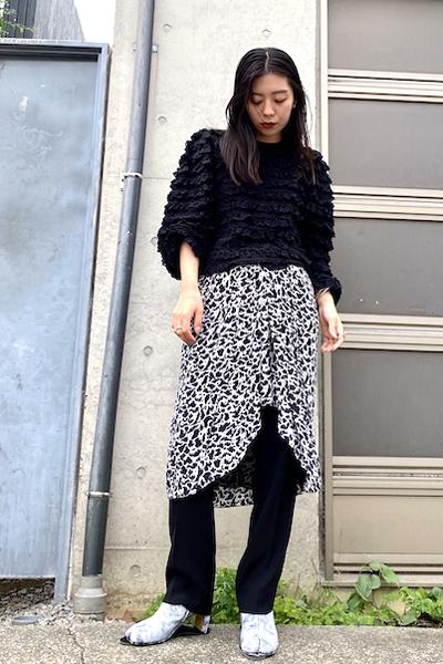 ISABEL MARANT ETOILE 【40%OFF】総柄アシンメトリースカート