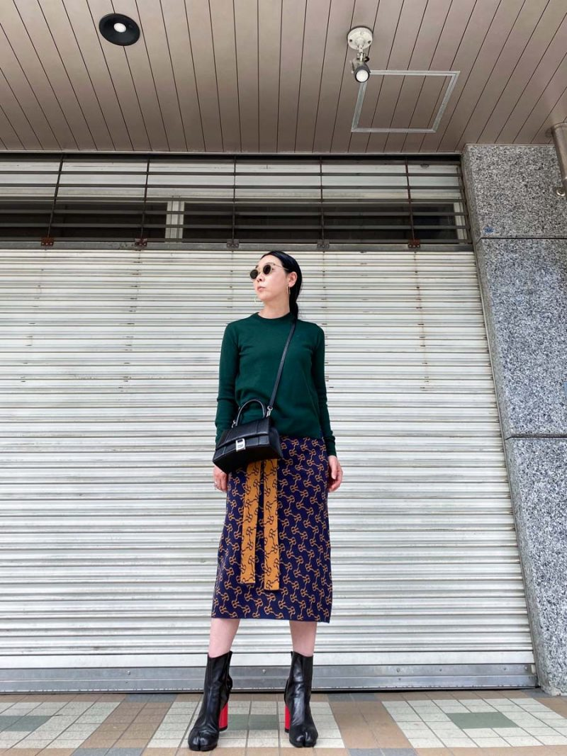 rokh 【50%OFF】ジャガード ニットスカート