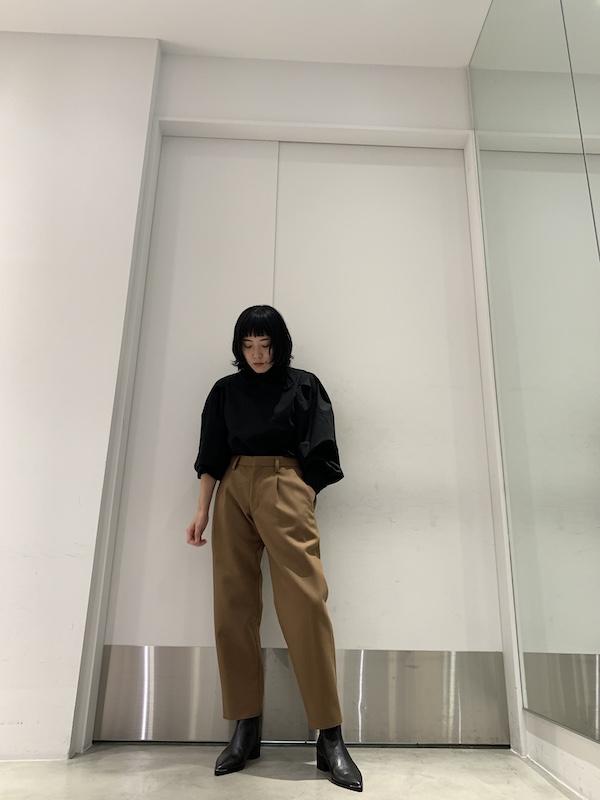 kolor 【40%OFF】ハイネックパフスリーブトップス