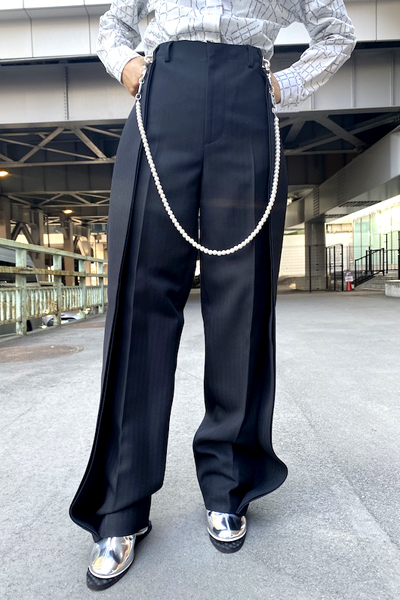 WE11DONE PEARL CHAIN BAGGYパンツ
