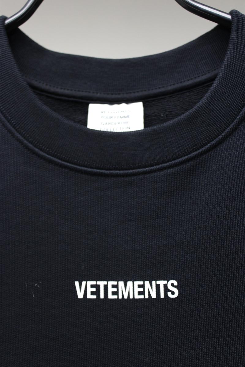 VETEMENTS ロゴパッチモルトンドレス【21SS】