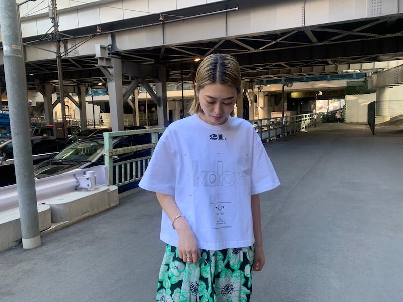 kolor 刺繍ロゴTシャツ 【21SS】