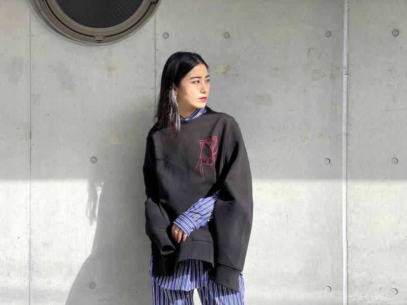 rokh ロゴ刺繍スウェットトップス【21SS】