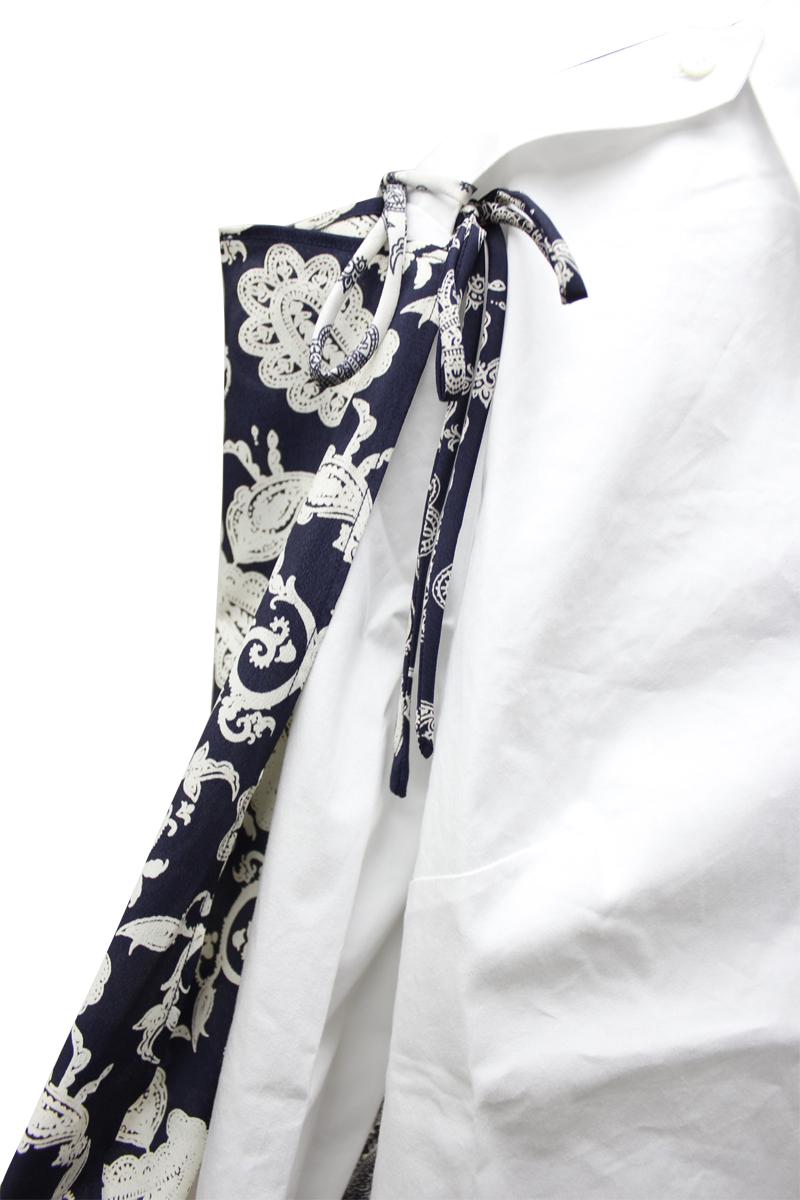 rokh スカーフミックスシャツ【21SS】