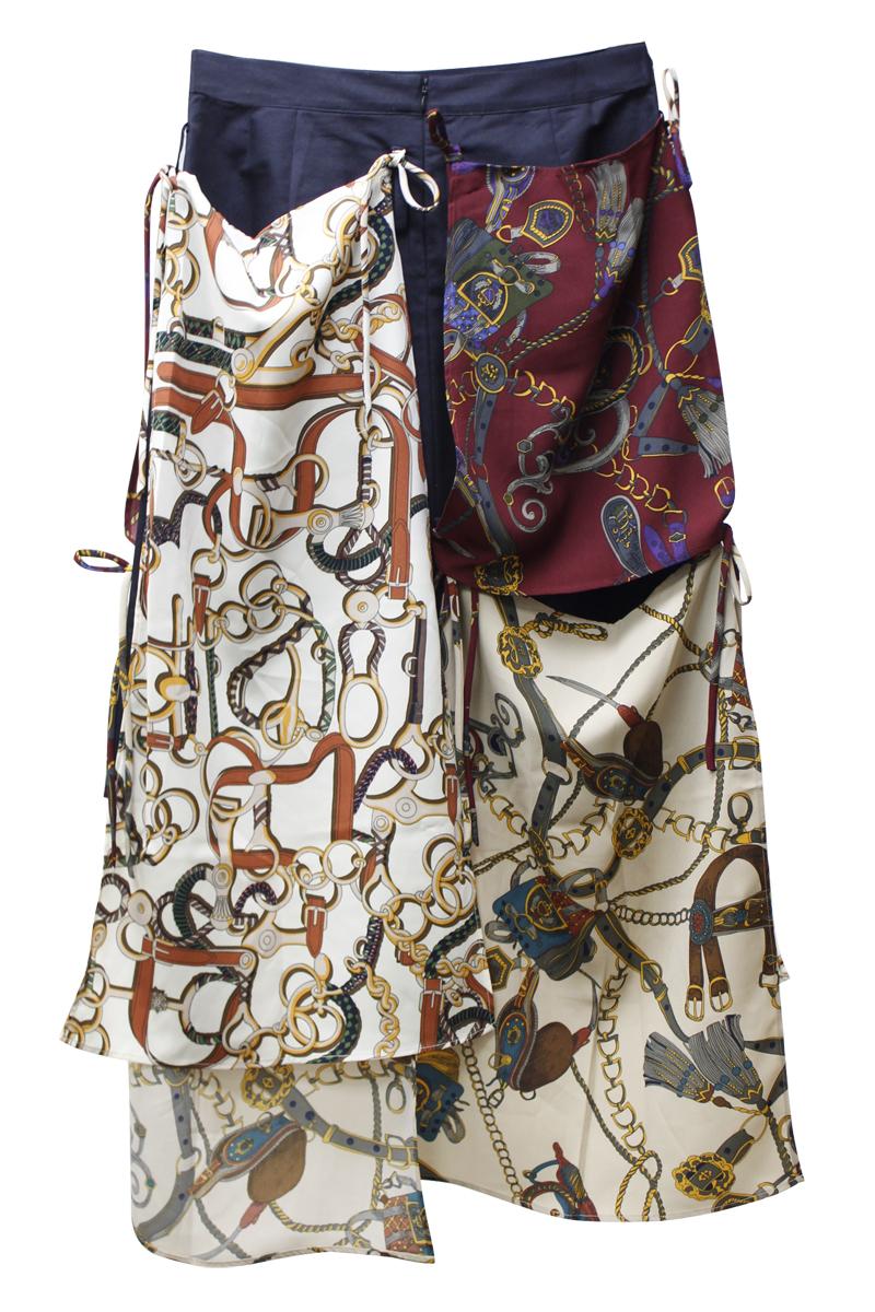 rokh スカーフレイヤードスカート【21SS】