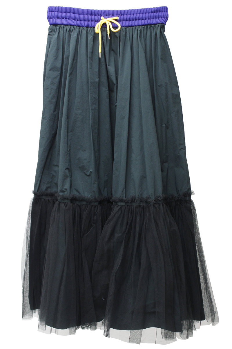 kolor チュール切替スカート【21SS】