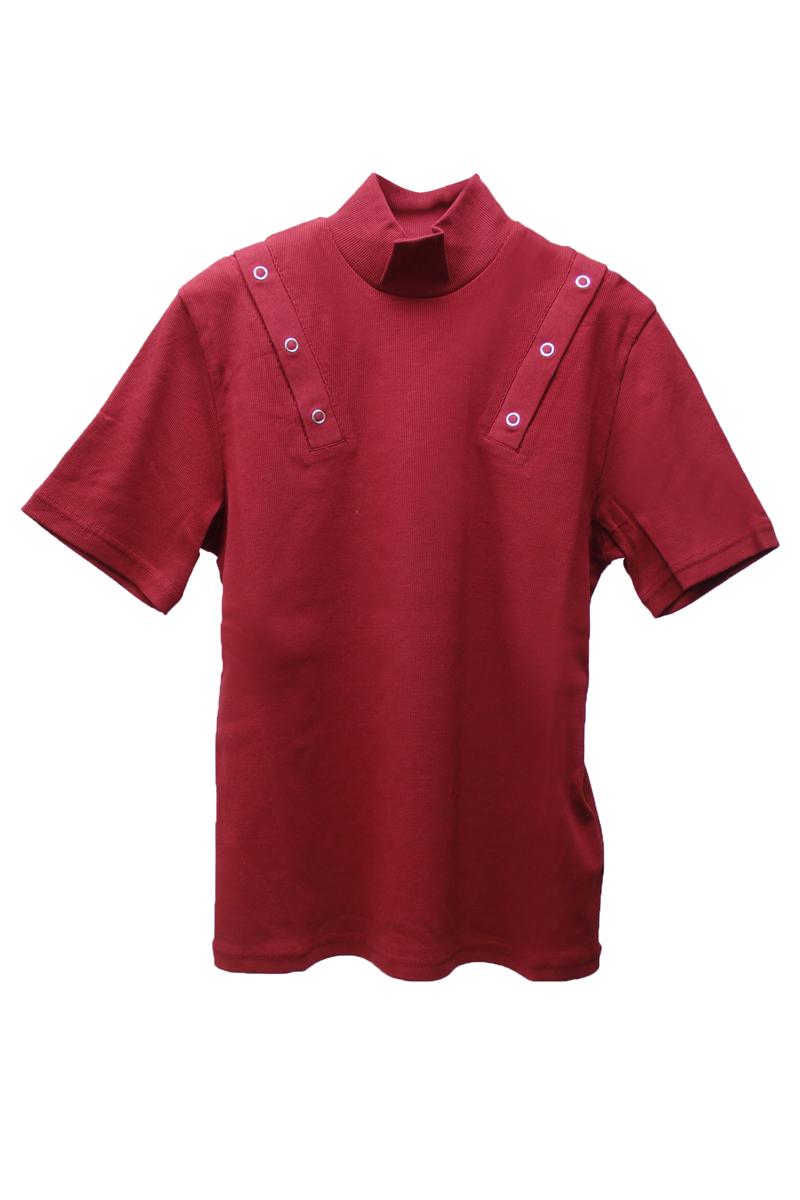 JOHN LAWRENCE SULLIVAN ショルダーボタンハイネックTシャツ【21SS】