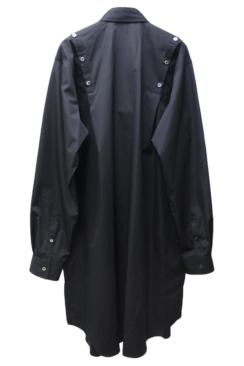 JOHN LAWRENCE SULLIVAN ショルダーボタンシャツドレス【21SS】