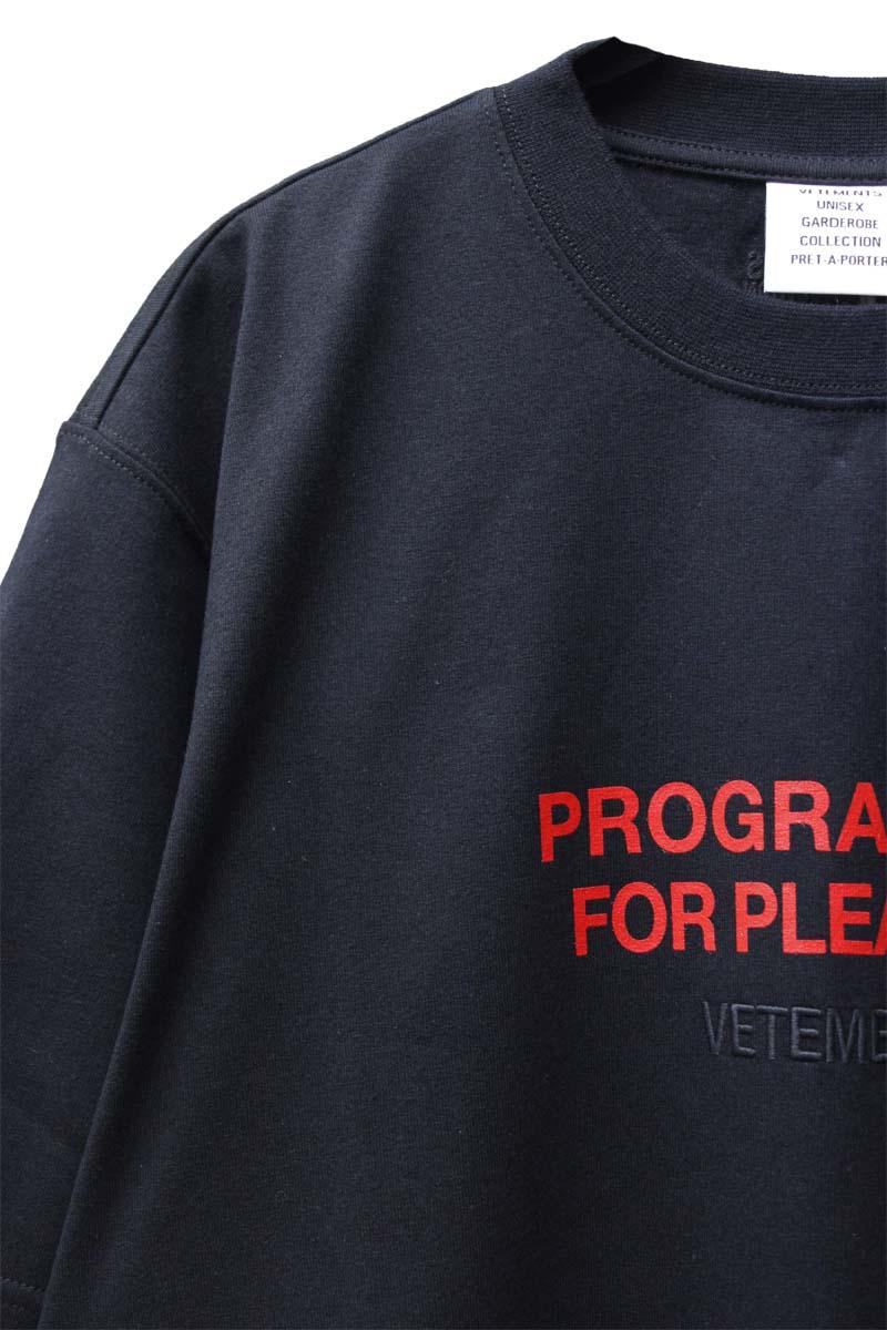 VETEMENTS PLEASURE Tシャツ【21SS】
