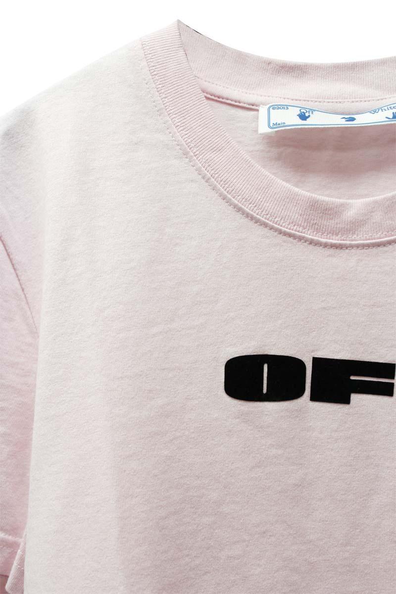 OFF-WHITE FLOCK ロゴTシャツ【21SS】
