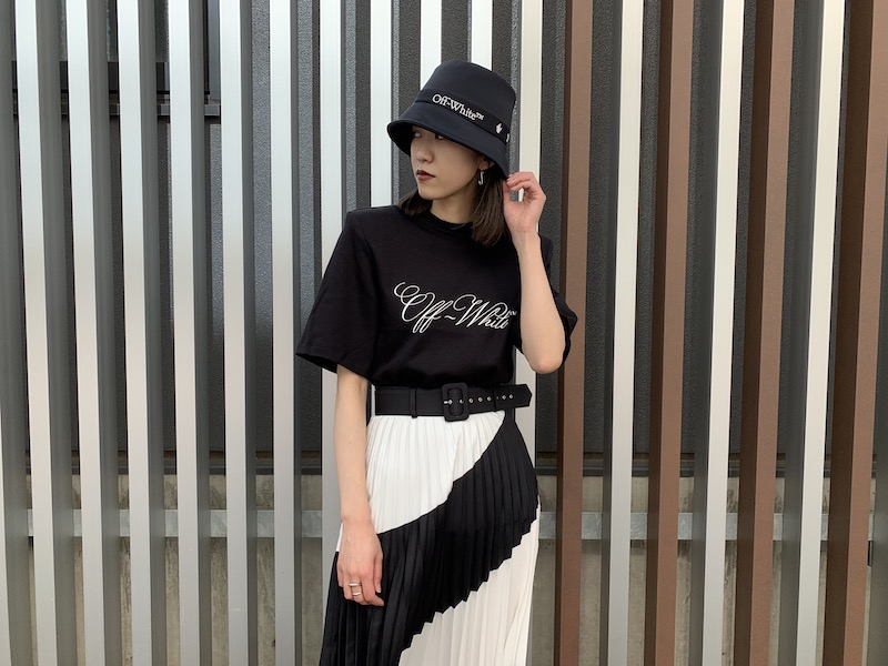 OFF-WHITE LOGO SHOULDER PADS Tシャツ【21SS】