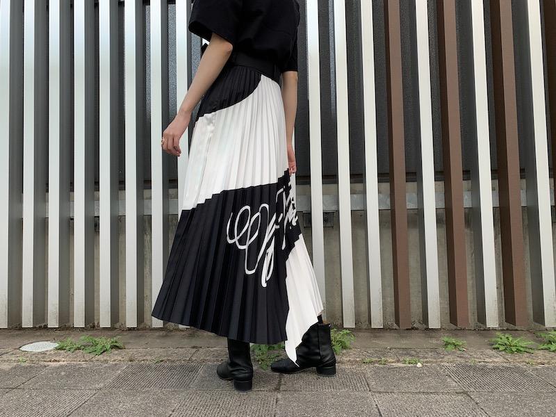 OFF-WHITE SPIRAL PLISSEスカート【21SS】