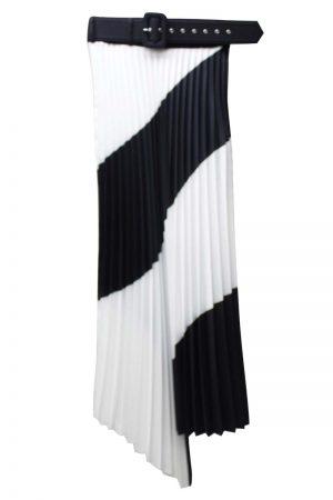 OFF-WHITE SPIRAL PLISSEスカート