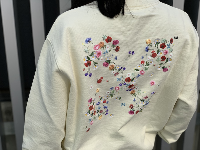 OFF-WHITE ARROW FLOWERSスウェットワンピース【21SS】