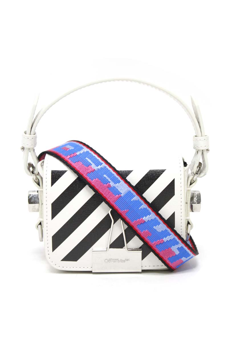 OFF-WHITE DIAG BABY FLAPバッグ