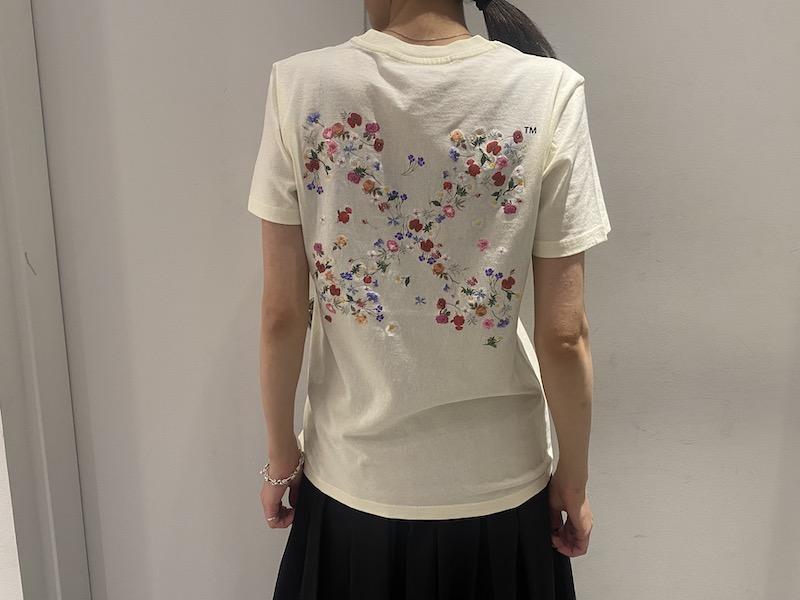 OFF-WHITE ARROW FLOWERS Tシャツ