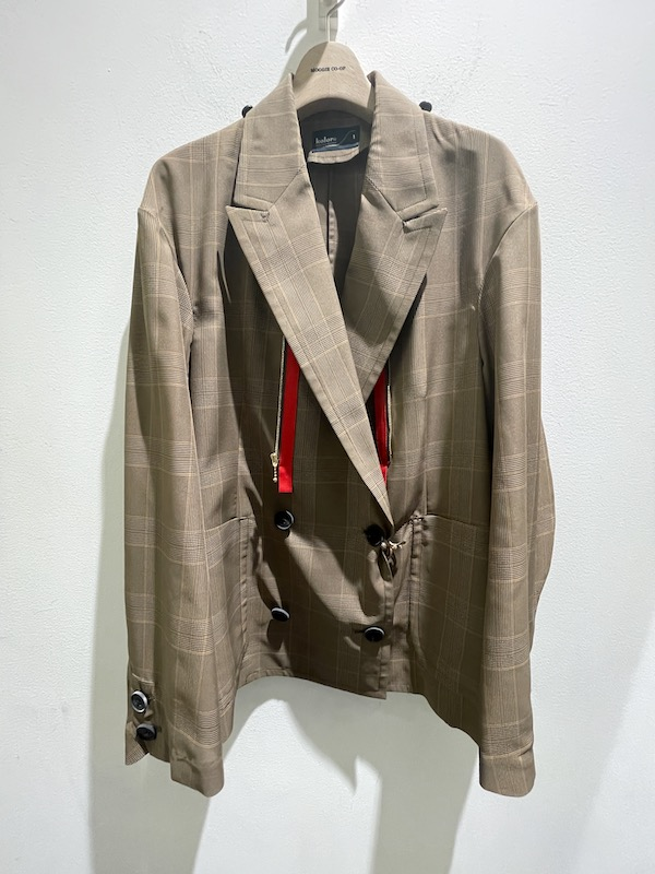 kolor レイヤードチェックジャケット【21SS】