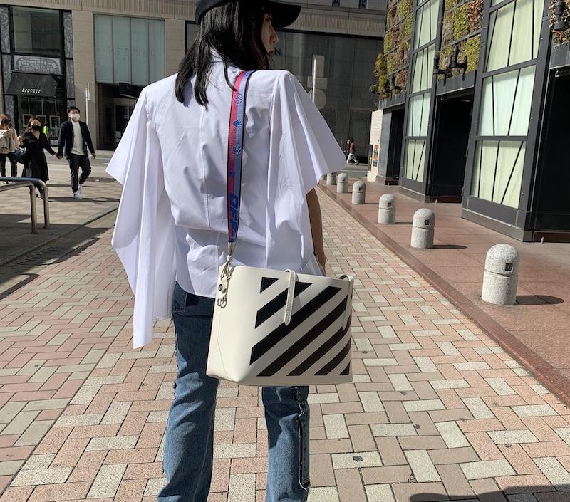 OFF-WHITE DIAG BINDER SHOPPER【21SS】