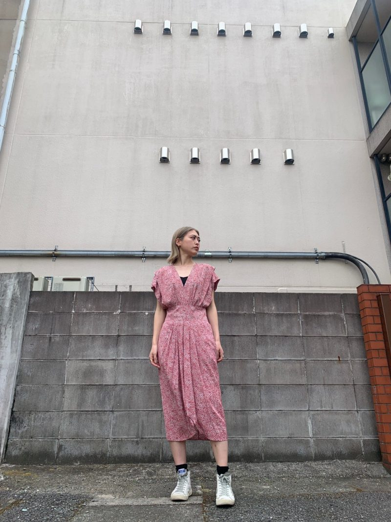 ISABEL MARANT ETOILE ドットプリントワンピース【21SS】