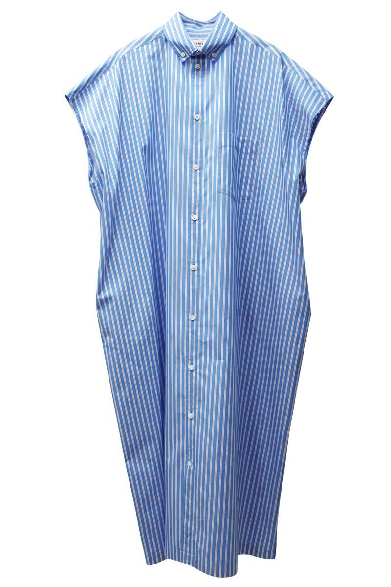 BALENCIAGA ストライプシャツドレス【21SS】