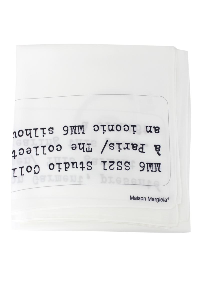 MM6 MAISON MARGIELA ロゴ大判スカーフ【21SS】