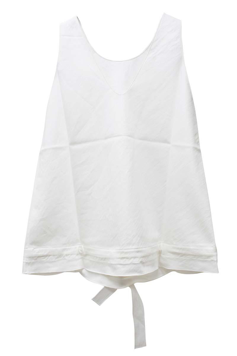 SARA LANZI 裾絞りノースリーブトップス【21SS】