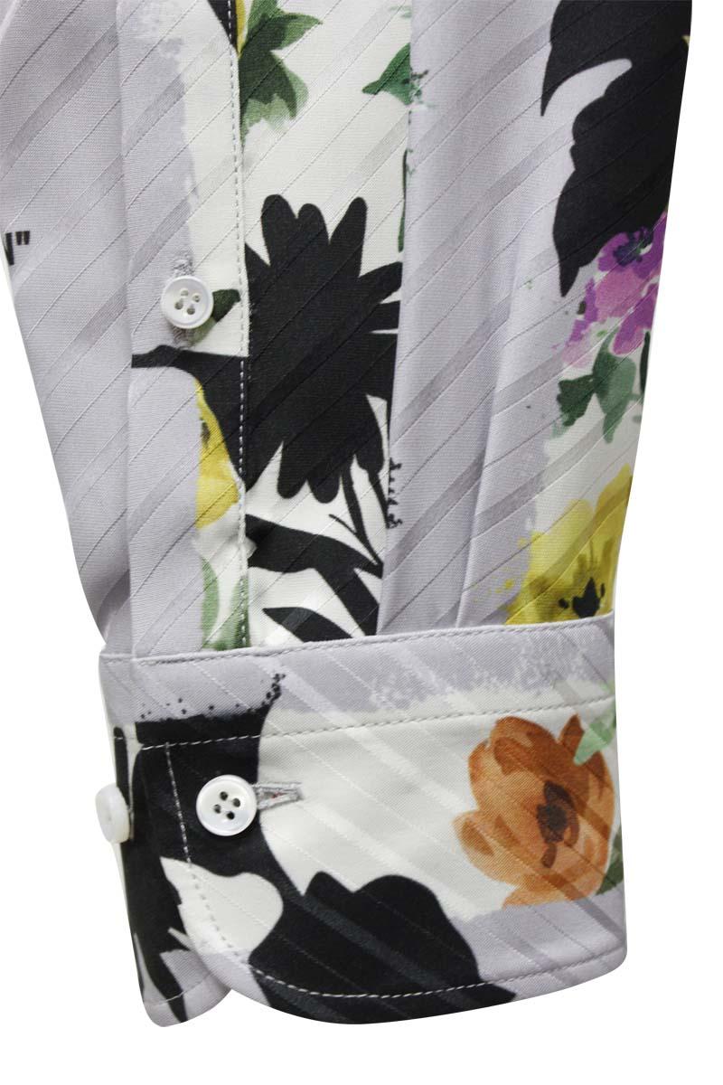 OFF-WHITE ストライプフラワーシャツ【21SS】