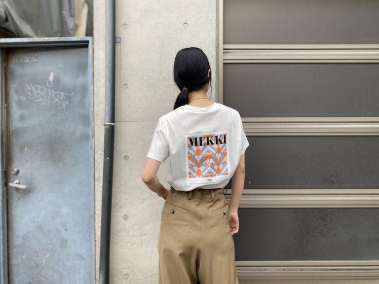 MEKKI Art DecoプリントTシャツ【21SS】