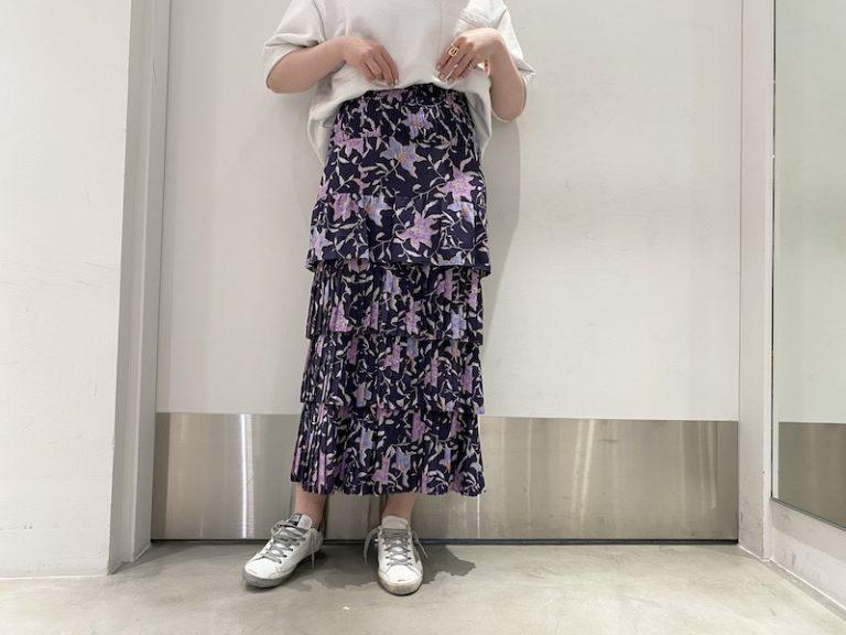 ISABEL MARANT ETOILE 花柄ティアードスカート【21SS】