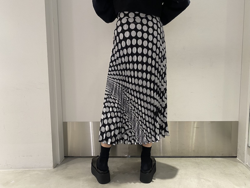 MM6 MAISON MARGIELA ドットプリーツスカート