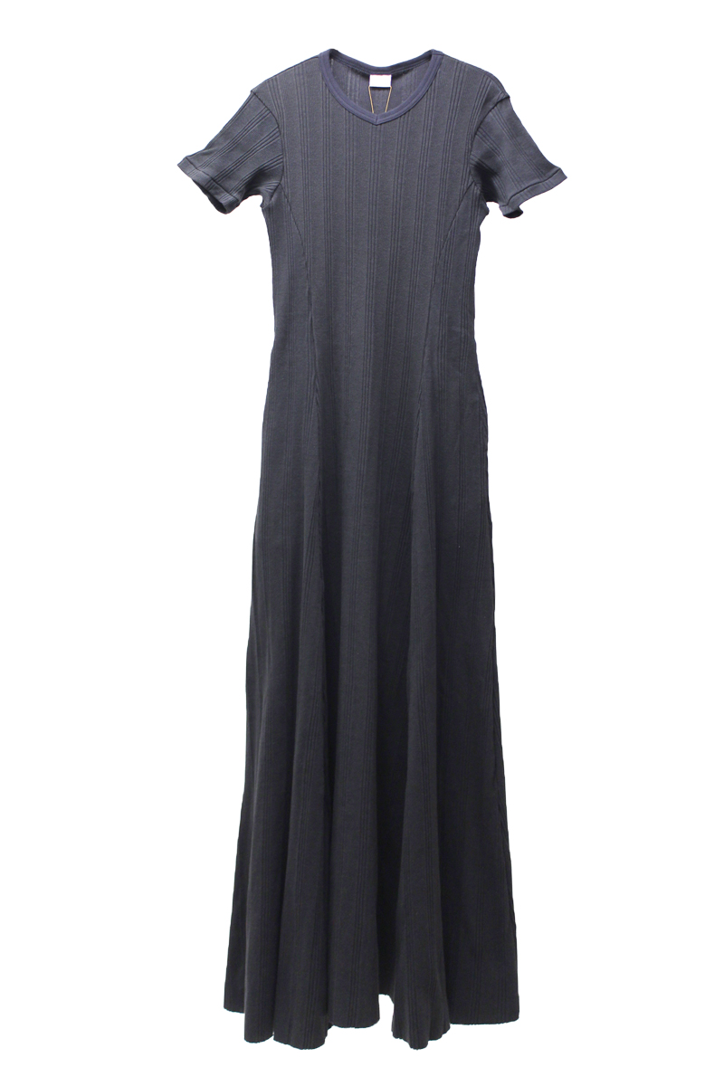 MAISON EUREKA RANDOM RIB MAXI ドレス【21SS】