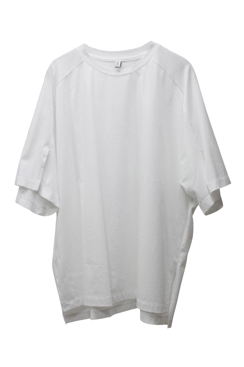 08 SIRCUS スリットスリーブTシャツ【21SS】