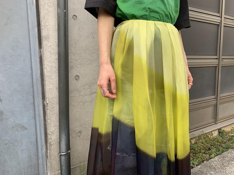 DRIES VAN NOTEN SAKURA TRANSPスカート【21SS】