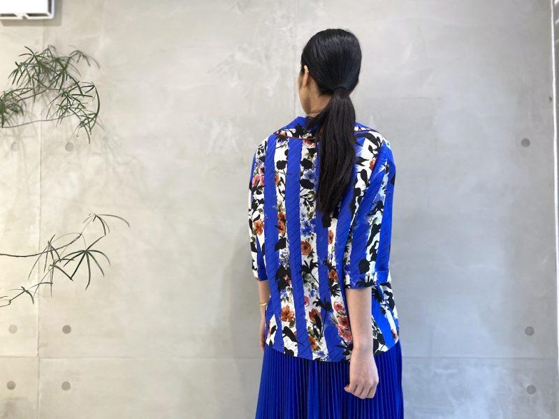 OFF-WHITE ストライプフラワー半袖シャツ 【21SS】