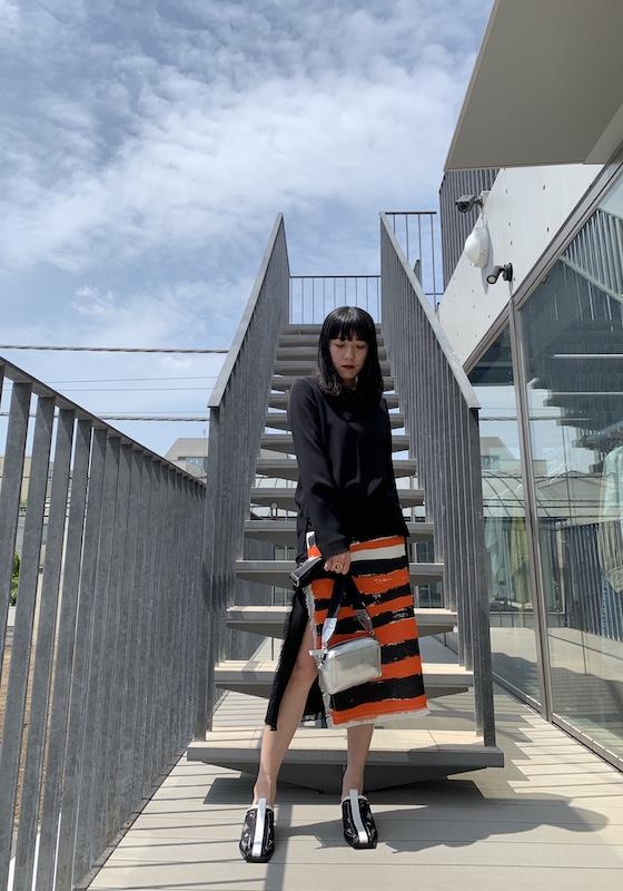 MARNI サイドスリットスカート【21SS】