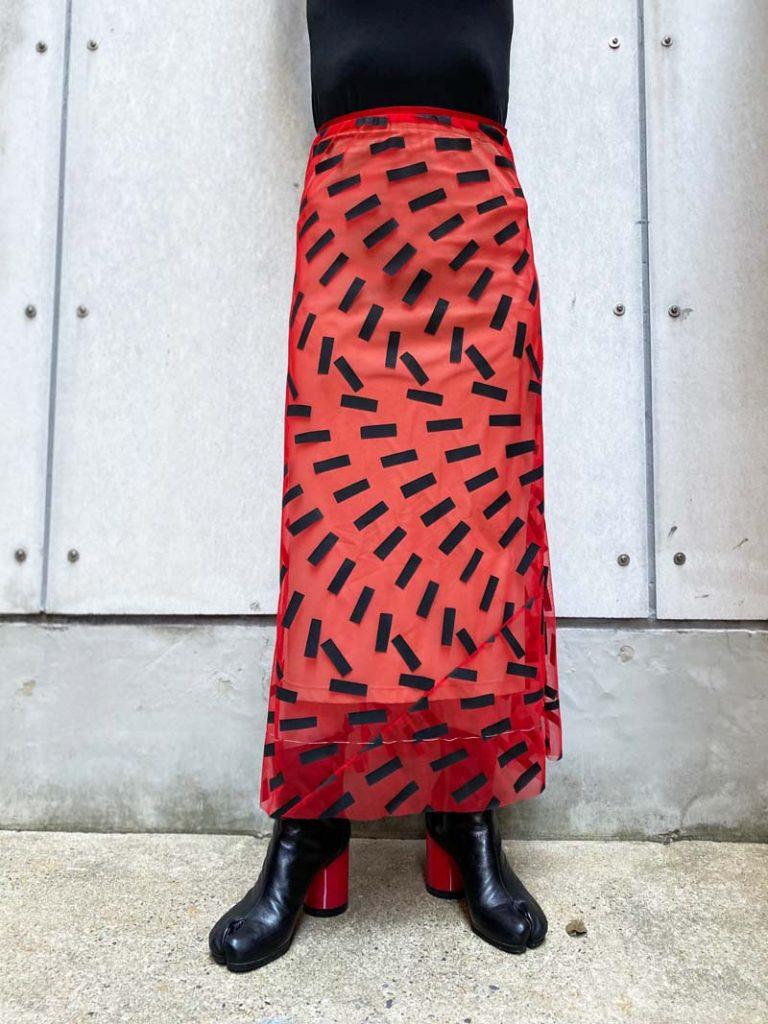 MAISON MARGIELA Tapeプリントロングスカート 【21SS】