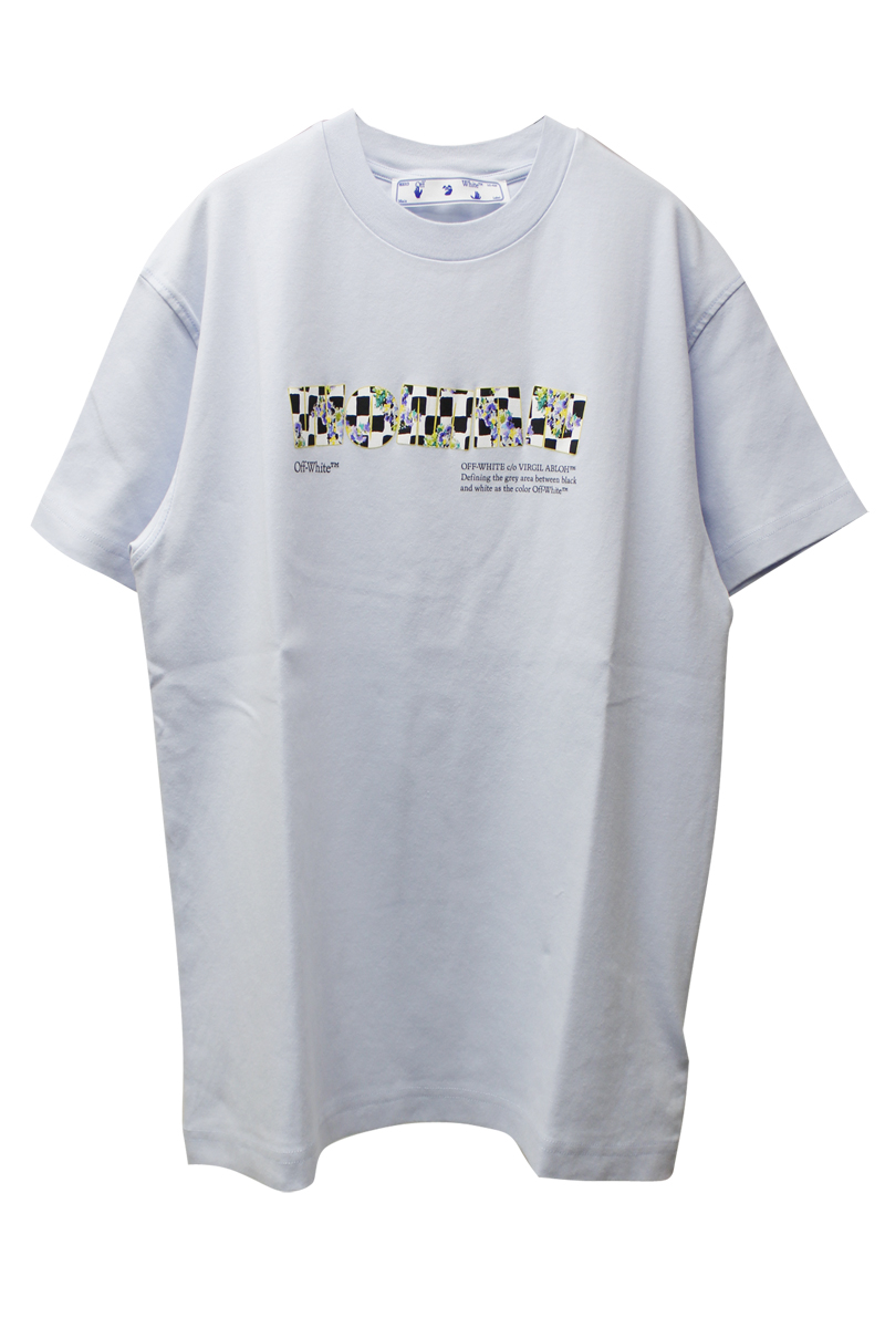 OFF-WHITE CHECK TYPE Tシャツ【21SS】