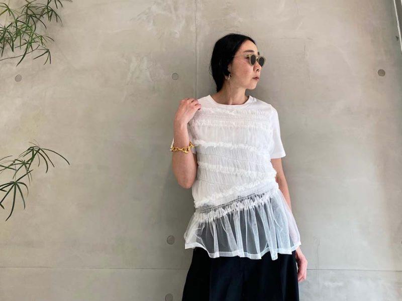 Chika Kisada フリルTシャツ