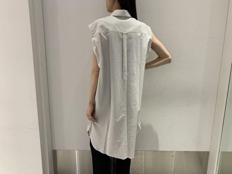 Acne Studios 【40%OFF】ストライプノースリーブシャツ