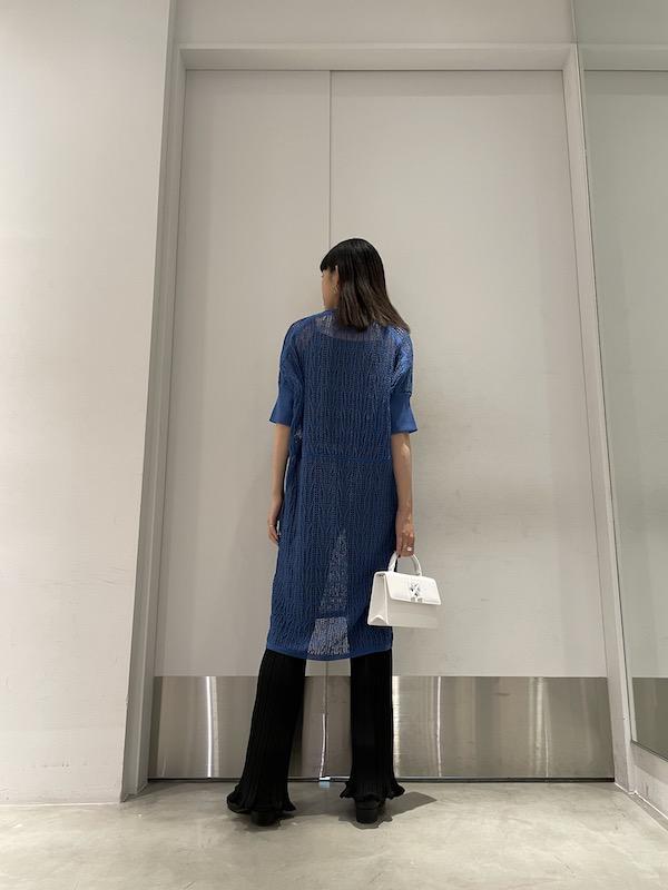 08 SIRCUS メッシュニットドレス