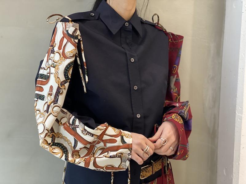 rokh スカーフミックスシャツ