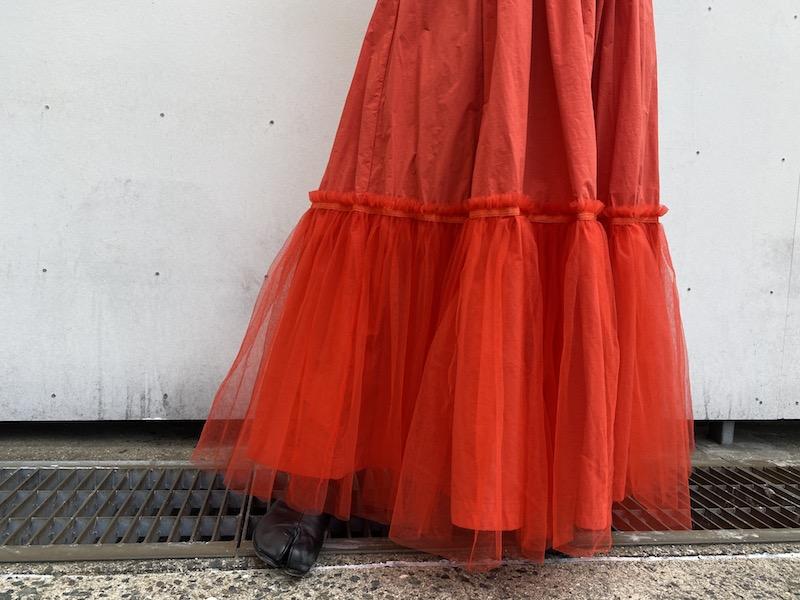 kolor チュール切替スカート