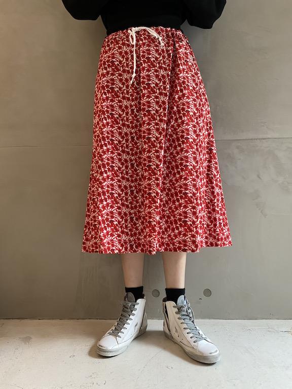 HACHE 花柄スカート