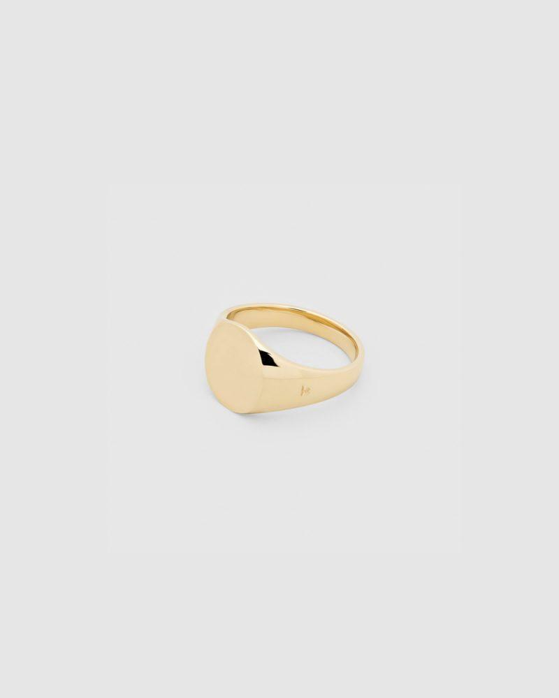 TOM WOOD Mini Signet Oval 9K Gold