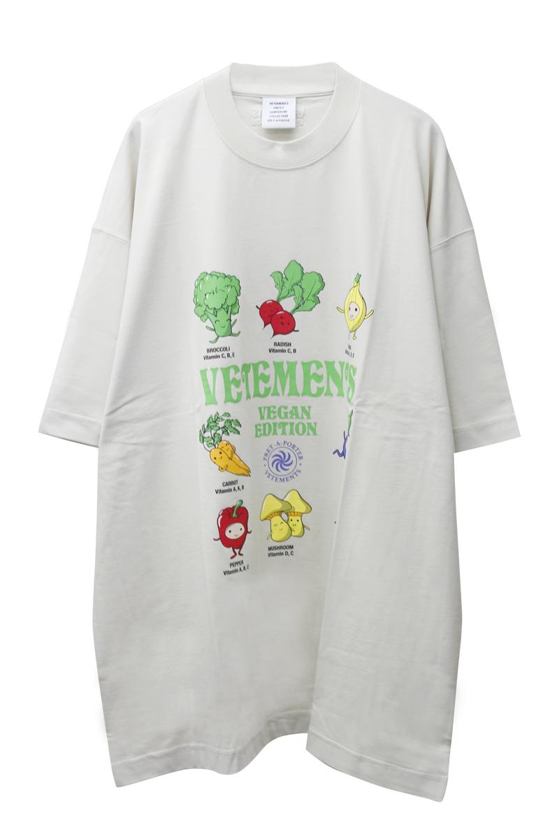 VETEMENTS VEGAN LOGO Tシャツ 【21AW】