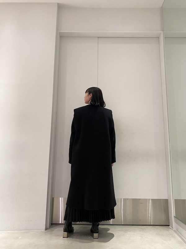 ISABEL MARANT ノーカラーロングコート 【21AW】